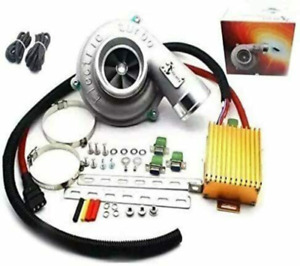 Electric Turbo Supercharger Turbocharger Kit Air Filter Intake For Universal Car