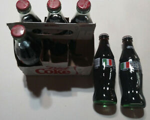 COCA COLA COKE 1994 WORLD CUP SOCCER ITALY 6 pack BOTTLE FULL Collectible