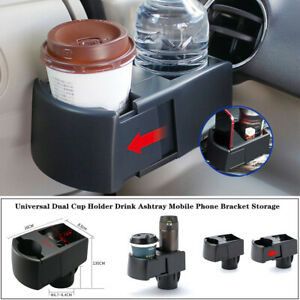 Adjustable Car Scalable Dual Cup Holder Drink Ashtray Phone Bracket Storage Trim