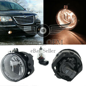 For Chrysler Town Country 2005 2009 Fog Lights Lamps Kit W H11 Bulb