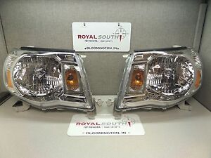 Toyota Tacoma 05 11 Left Right Updated Front Headlight Set Genuine Oe Oem