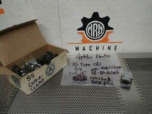 Appleton Electric 1 2 Tube Od 3 4 22 Metal Clamps 18 Black Grommets New