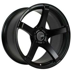 One 1 18x9 5 Enkei Kojin Et 15 Black 5x114 3 Wheel Rim