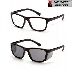 Pyramex Conaire Safety Glasses Black Frame With Integrated Side Shields 1 pair