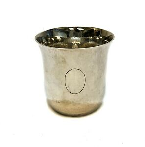 Emile Puiforcat 950 Sterling Silver Cup Hand Hammered