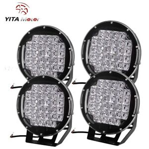 4x 9inch 225w Round Led Work Light Spot Driving Lamp Headlight Offroad Atv Suv