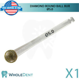 Diamond Bone Shape Cutting Surgical Round Ball Head Bur 5mm Dental Implant