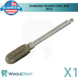 Diamond Bone Shape Cutting Surgical Round Oval Head Bur 5mm Dental Implant