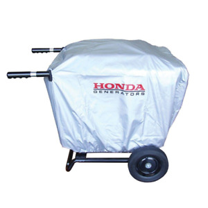 Honda Eu3000is Generator Cover W Installed 2 Wheel Kit Handles Durable Silver
