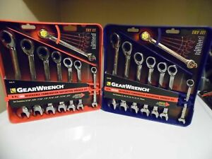 New Gearwrench 16 piece Reversible Ratcheting Wrench Set Sae Metric 9543 9533