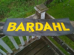 Vtg Bardahl Fender Cover Mat Protector Oil Gas Service Station Can Auto Repair