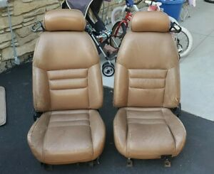94 98 Ford Mustang Gt Cobra Front Seats Saddle Tan Leather Oem