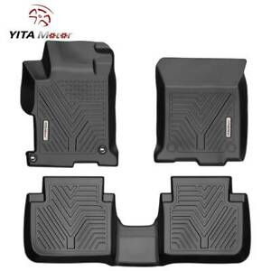 Yitamotor Floor Mats Liner For 2013 2017 Honda Accord Sedan All Weather 3pcs Set