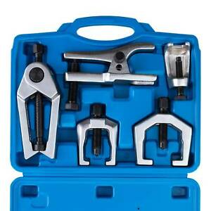 6pc Front End Ball Joint Service Tie Rod Tool Kit Set Pitman Arm Puller Remover
