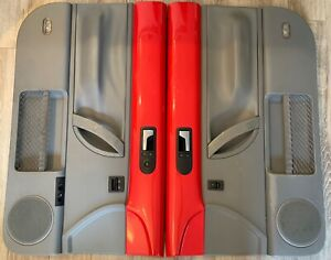 98 10 Vw Beetle Oem Door Panels Pair Driver Passenger Gray Red Coupe Lh Rh