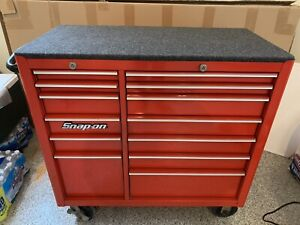 Snap on 13 Drawer Tool Box Chest Kfa4800 Rolling Red Cabinet Snap On Toolbox