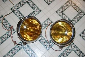 Vintage Fog Lamp Early Auto Truck Unity Model F1 Amber Lights