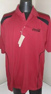 Mens Size XL Red Coca Cola Polo Shirt Brand New With Tags