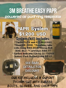 3m Breathe Easy Powered Air Purifying Respirator papr System W Hood