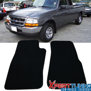 Fits 96 02 Ford Ranger Floor Mats Carpets 2pc Black Nylon