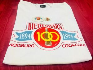 1994 COCA-COLA 100th ANNIVERSARY 1st BOTTLE Lot 3 Items!T-shirt  Pins BIEDENHARN
