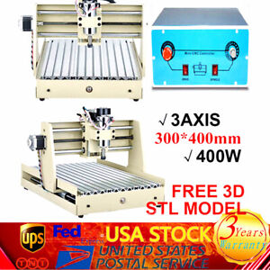 3 Axis 3040 Cnc Router Engraver Carving Milling Machine 400w Spindle controller
