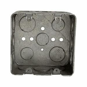 Electrical Switch Outlet Wall Box 2 Gang New Work Square Device Steel Case Of 10