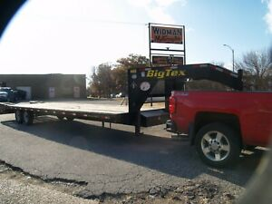 2013 Big Tex 14gn 25 bed 5 dovetail Gooseneck Flatbed Hotshot Trailer