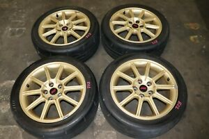 Jdm 2005 2007 Subaru Wrx Sti Authentic Enkei Gold Rims 17x8 Et53 Wheels 5x114 3