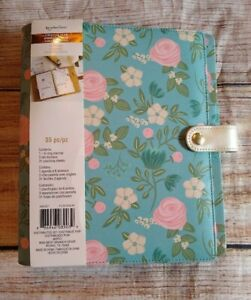 Recollections Personal Planner Binder Floral 35 Pc 6 Ring