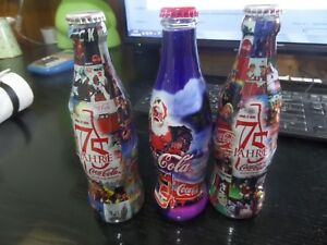 3 Coca Cola Limited Edition Glass Bottles 75 YEARS IN GERMANY