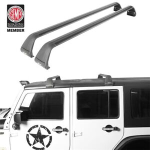 Hooke Road Top Roof Cargo Rack Offroad Carries Fit Jeep Wrangler Jl 18 20 Black