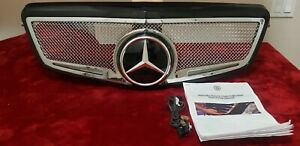 Mercedes Benz E class Strut Collection Lighted Led Mesh Grille Customized