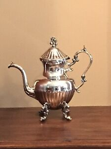 Bsc Birmingham Silver On Copper Coffee Pot