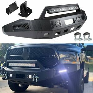 For 13 15 Dodge Ram 1500 Front Bumper Guard Protector winch Durable Steel Black