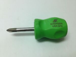 Snap On Shdp221r Stubby No 2 Phillips Head Screwdriver Green