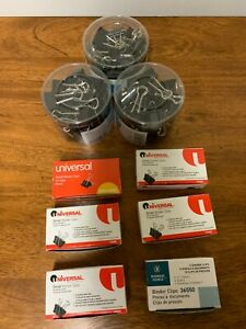 Lot Of 180 Pieces Staples Small Binder Clips 3 4 Size Black Metal