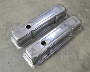 Small Block Chevy Chrome Valve Covers New Old Stock 58 86 283 350 Cu In