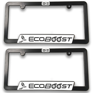 2 Ecoboost 3d License Plate Frame Ford Mustang F150 Flex Turbo Accessories