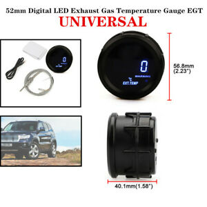 52mm Car Truck Digital Led Exhaust Gas Temperature Gauge Egt With Cable