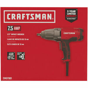 Brand New Craftsman 7 5 Amp Cmef901 1 2 Corded Impact Wrench
