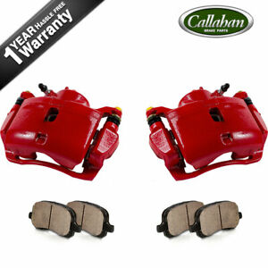 For Acura Ilx Honda Accord Civic Cr Z Front Red Brake Calipers And Ceramic Pads