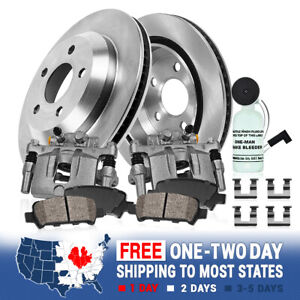 Rear Oe Brake Calipers Rotors Ceramic Pads Kit For Ford Edge Lincoln Mkx