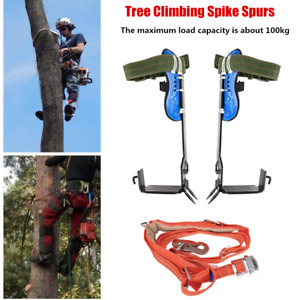 Tree Climbing Spike Spurs Safety Belt Straps Rope Non slip Climbing Tree Shoes