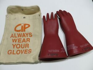 Salisbury Size 8 D120 Class 0 Type 1 1000v Red lineman Electrical Gloves Bag