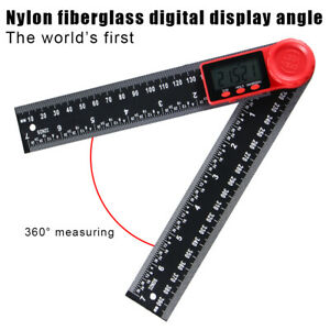 Electronic Lcd Digital Angle Finder 8 200mm Protractor Ruler Goniometer 2 In 1