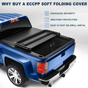 New Tonneau Cover For 15 19 Gmc Canyon Chevy Colorado Soft 3 Fold 5ft Bed
