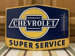 Chevrolet Super Service Thermometer Truck Coupe Chevy Coke Camaro Ss Chevelle
