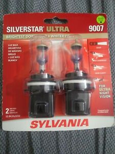 New Sylvania Silverstar Ultra 9007 Pair Set High Performance Headlight 2 Bulbs