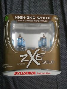 New Sylvania Silverstar Zxe Gold 9006 Pair Set Headlight Bulbs Xenon Fueled